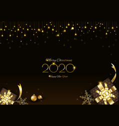 Merry christmas background design with glowing vector