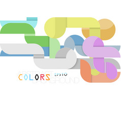 Modern abstract colors style vector