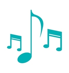 music note sound melody symbol vector image