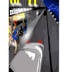night bar vector image