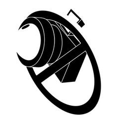 no camera icon simple style vector image