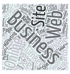 Online Turnkey Business Web Site Word Cloud vector image