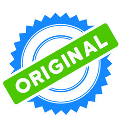 Original stamp flat icon vector