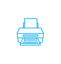printer linear icon concept printer line vector image