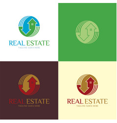 real estate logo and icon vector image