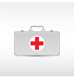 red first aid kit vector image