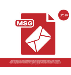 Red msg file document download msg button icon vector