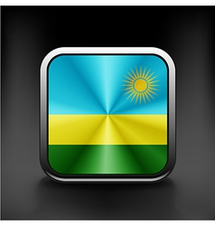 Rwanda flag national travel icon country symbol vector image