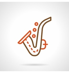 Saxophone simple color line icon vector