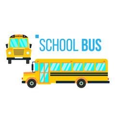 School bus yellow classic school vehicle vector