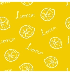 Seamless Pattern Yellow Lemon vector image