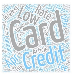 Select The Best Low APR Credit Cards text vector