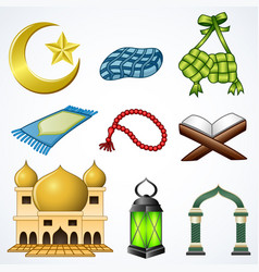 Set collection of ramadan element vector
