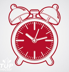 Simple alarm clock with two symmetric bells vector