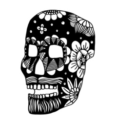 skull 199 01 vector image