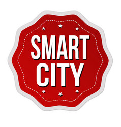 smart city label or sticker vector image