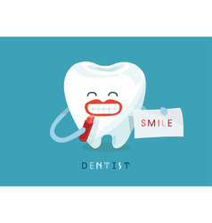 Smile tooth vector image
