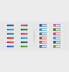Social media banners template in lower third style vector
