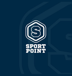 Sport point logo vector