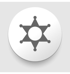 Star Sheriff sign icon Police button Symbol vector image