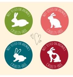 Stop cruelty eco-friendly badges vector