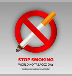 stop smoking concept background realistic style vector image
