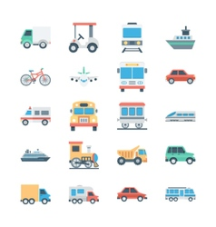 Transports Colored Icons 1 vector