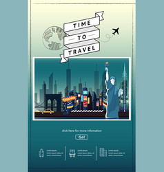 travel to newyork presentation template vector image