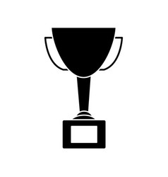 trophy award winner prize pedestal icon vector image