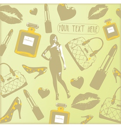 Vintage Beauty Fashion Pattern vector image