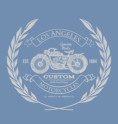 Vintage Motorcycle T-shirt Design vector image
