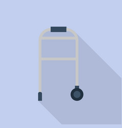 walking wheel stand icon flat style vector image