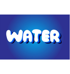 water text 3d blue white concept design logo icon vector image