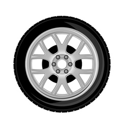 wheel and tire vector image