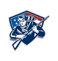 American Frontiersman Patriot Stars Stripes Flag vector image vector image