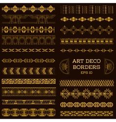 Art deco vintage borders and design elements vector