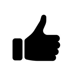black hand silhouette with thumb up gesture of vector image