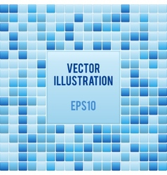 Blue mosaic small tile texture background of spa vector image