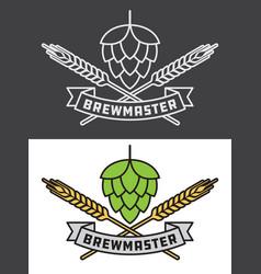 brewmaster craft beer design vector image vector image