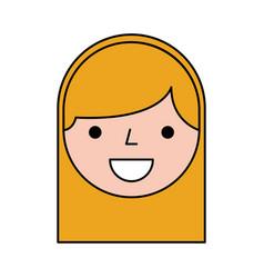 Cute woman head character vector