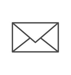 mail line icon vector image