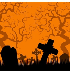 old cemetery vector image vector image
