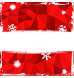 Red triangle grunge christmas background with vector image