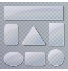 Set of transparent glass plates vector image vector image