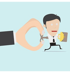 Wind up toy businessman vector
