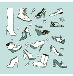 Womens shoes set vector image