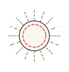 circle label emblem decoration linear vector image