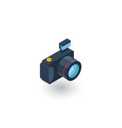 digital photo camera isometric flat icon 3d vector image