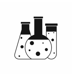 Laboratory flasks icon simple style vector image vector image