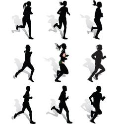 run vector image vector image